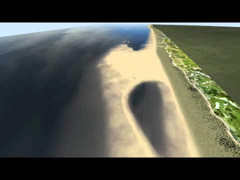 """Littoral: aux Pays-Bas, un """"moteur de sable"""" naturel protège les plages"""