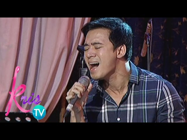 "Kris TV: Erik Santos sings ""She's Out of My Life"""