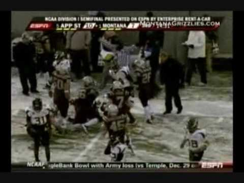 University of Montana vs Appalachian State Highlights 2009 Video
