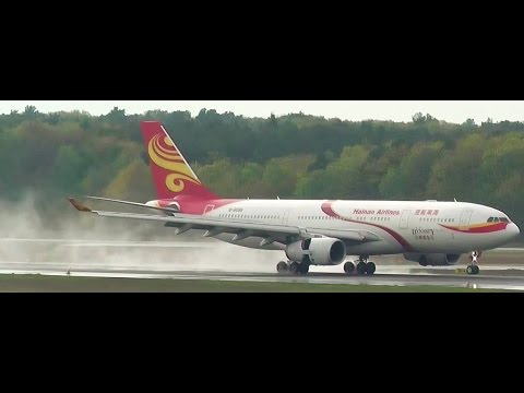 Hainan Airlines Airbus A330-243 B-6088 with nice water landing Berlin Tegel airport