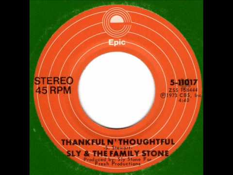 SLY & the FAMILY STONE  Thankful n' thoughtful  70s Funk Classic