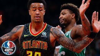 Marcus Smart ejected as tempers flare in Celtics' win over Hawks | NBA Highlights