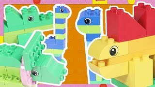 LEGO DUPLO Dinosaurs Building Activity! Easy Play and Game for Toddlers & Young Kids