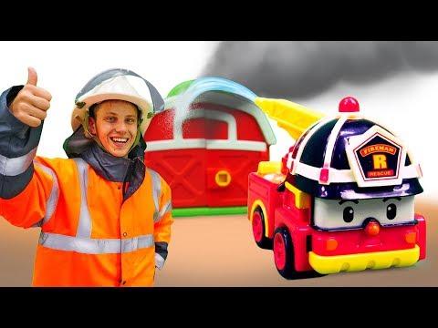 Веселая школа - Изучаем машинки помощники - Видео для детей