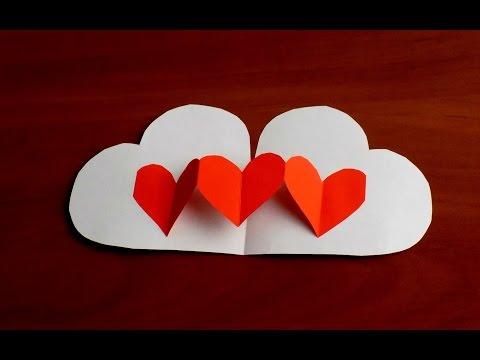 Как Сделать Валентинки Своими Руками  Поделки из бумаги Valentine's Day Crafts