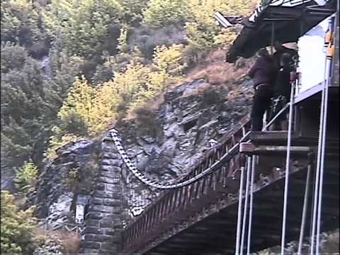 Stephen Fry Solo Bungee Jump
