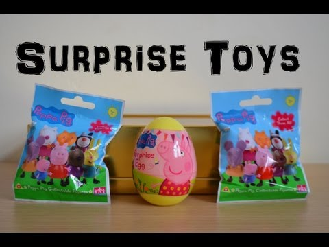 Peppa Pig Surprise Egg Surprise Blind Packs Peppa Pig Toy Unwrapping (HD)