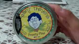 Thinking Putty Christmas Edition Classic-Frosty Pine Review(1st on youtube!)