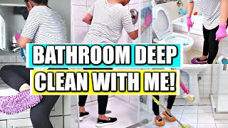 CLEAN WITH ME | Bathroom Deep Clean With Me!