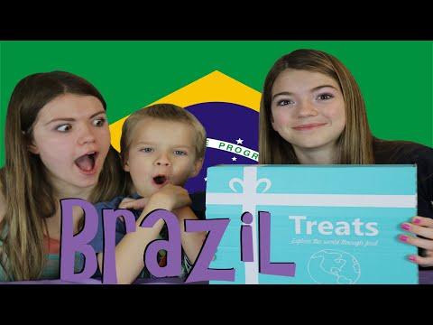 Americans try Brazil Treats