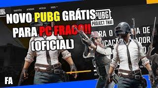 SAIU! NOVO PUBG QUE RODA EM PC FRACO TOTALMENTE GRÁTIS! PUBG THAI