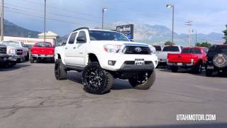 2012 Toyota Tacoma Crew Cab Short Bed Lifted White  -  Utah Motor Company,LLC (801)899-4992