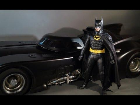 Hot Toys MMS 170 Batmobile 1/6th Scale Vehicle 1989 Batman Video Spotlight Review 1989Batman.com