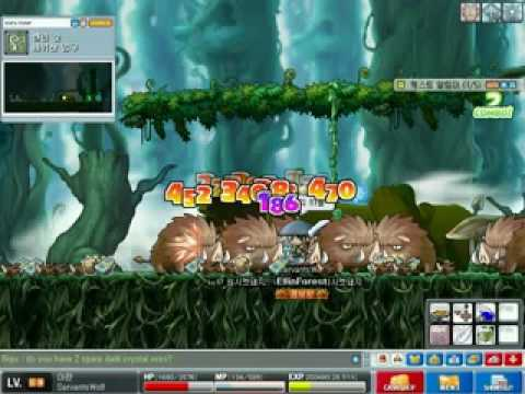 MapleStory - Aran Training At Wildier Boars Video