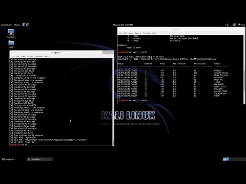 Cracking WPS With Reaver To Crack WPA WPA2 Passwords (Verbal step by step)