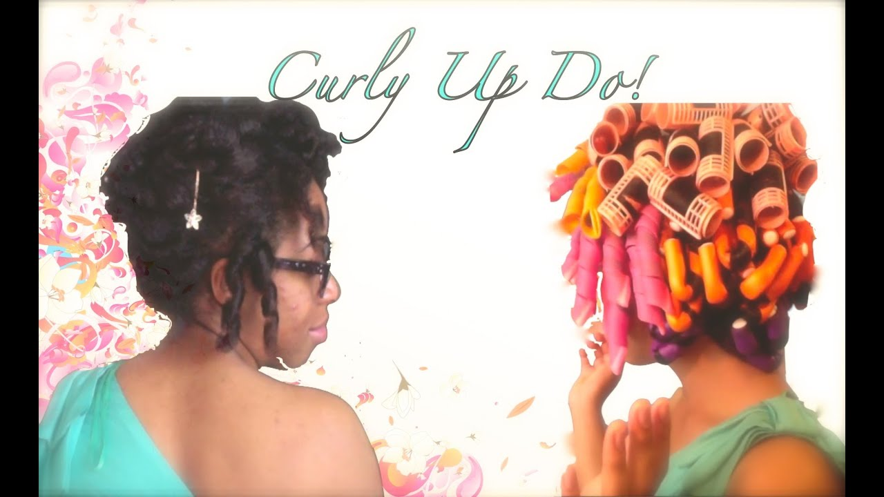 Curlformers vs Flexi Rods on Natural Hair Curlformer/ Flexi Rod up do on