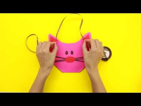 Как сделать прикольную сумочку котика за 5 минут.Наши руки не для скуки.