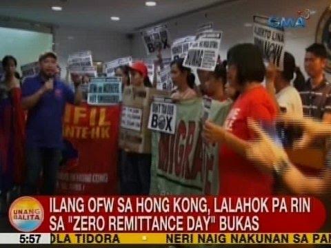 UB: Ilang OFW sa Hong Kong, lalahok pa rin sa 'Zero Remittance Day' bukas