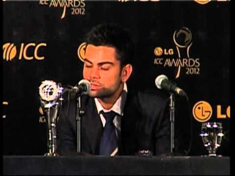 16 sep, 2012 - Indian batting sensation bags ICC ODI Cricketer of the Year award