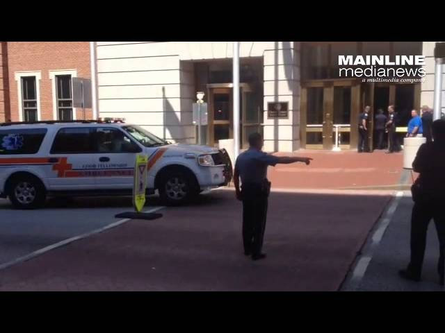 Video from shooting at Chester County Courthouse.Tuesday August 26, 2015