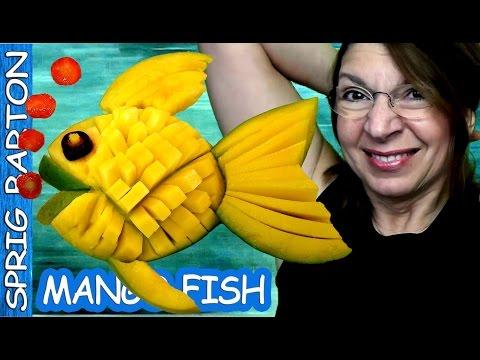 Food Art 45: MANGO FISH! Sprig Barton Fruit and Vegetable Carving Garnish