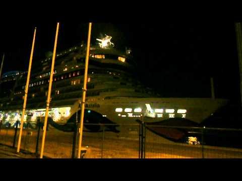 AIDA Stella Felison cruise terminal loud horn
