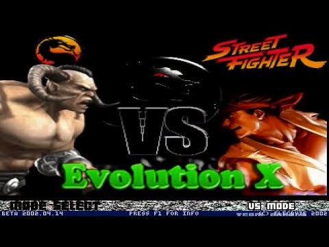 Mortal Kombat vs Street Fighter, Evolution X