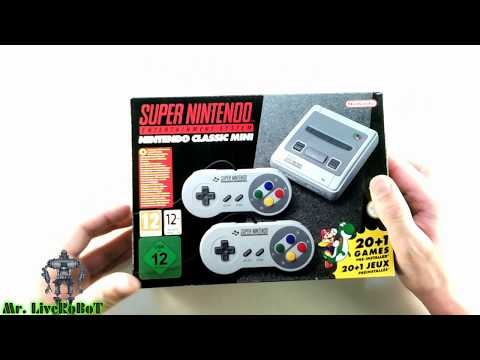 SUPER NINTENDO ENTERTAINMENT SYSTEM NINTENDO CLASSIC MINI SNES MINI РАСПАКОВКА И ОБЗОР