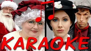 MRS CLAUS vs MARY POPPINS Karaoke (Princess Rap Battle) Instrumental Sing-along *explicit*