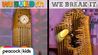 Lincoln Log Big Ben vs. Potato Launcher | WE BUILD IT WE BREAK IT