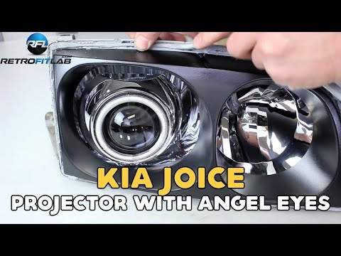 Kia Joice Projector With Angel Eyes Installation Video