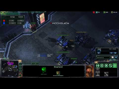 HD Starcraft 2 MoonGlade v PainUser p1/3 Video