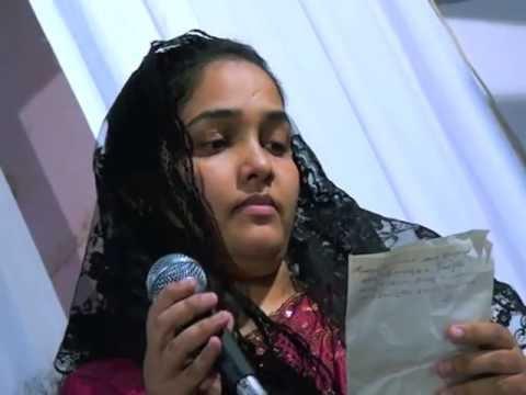 Maju Aby Joseph presenting a malayalam christian song Nanma...