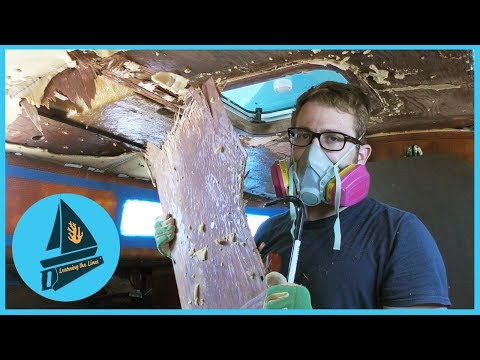 49. THAT'S A LOT OF DAMAGE - Gutting Our Yacht | Learning the Lines - DIY Sailing