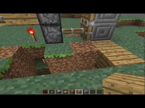 Piston Door Minecraft 2x1 2x1 Sticky Piston Door
