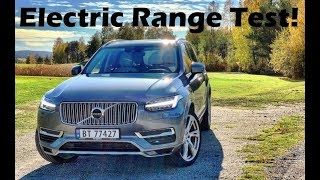 2018 Volvo XC90 T8 Electric Range Test! Can We Go 30 Miles On A Charge?