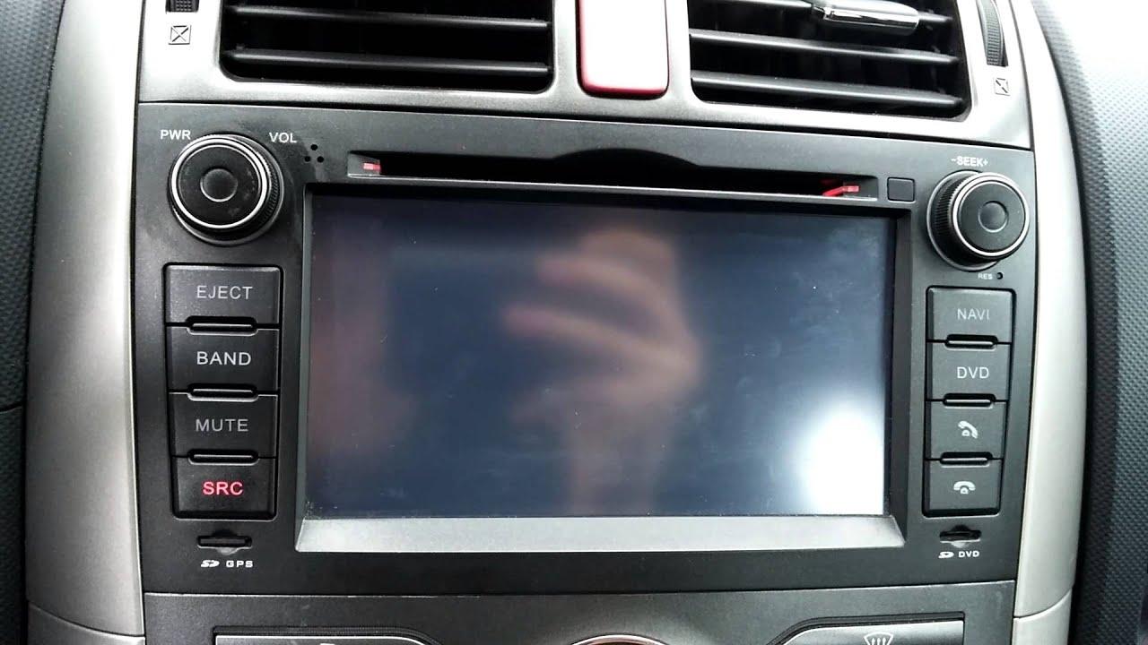 Toyota Auris 2007 2 Din Radio Navigation Dvb T Usb Mp3 Cd