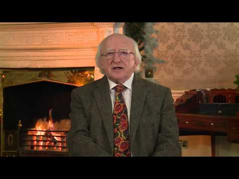 Video: Michael D Higgins makes his Christmas and New Year address to Ireland (Irish)
