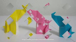 Origami Elephant Tutorial (designed By Sok Song)