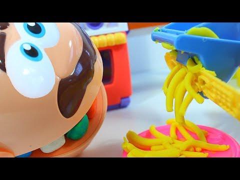 😬МИСТЕР ЗУбастик Готовим Еду из пластилина Плей До 😬 Мультик с игрушками