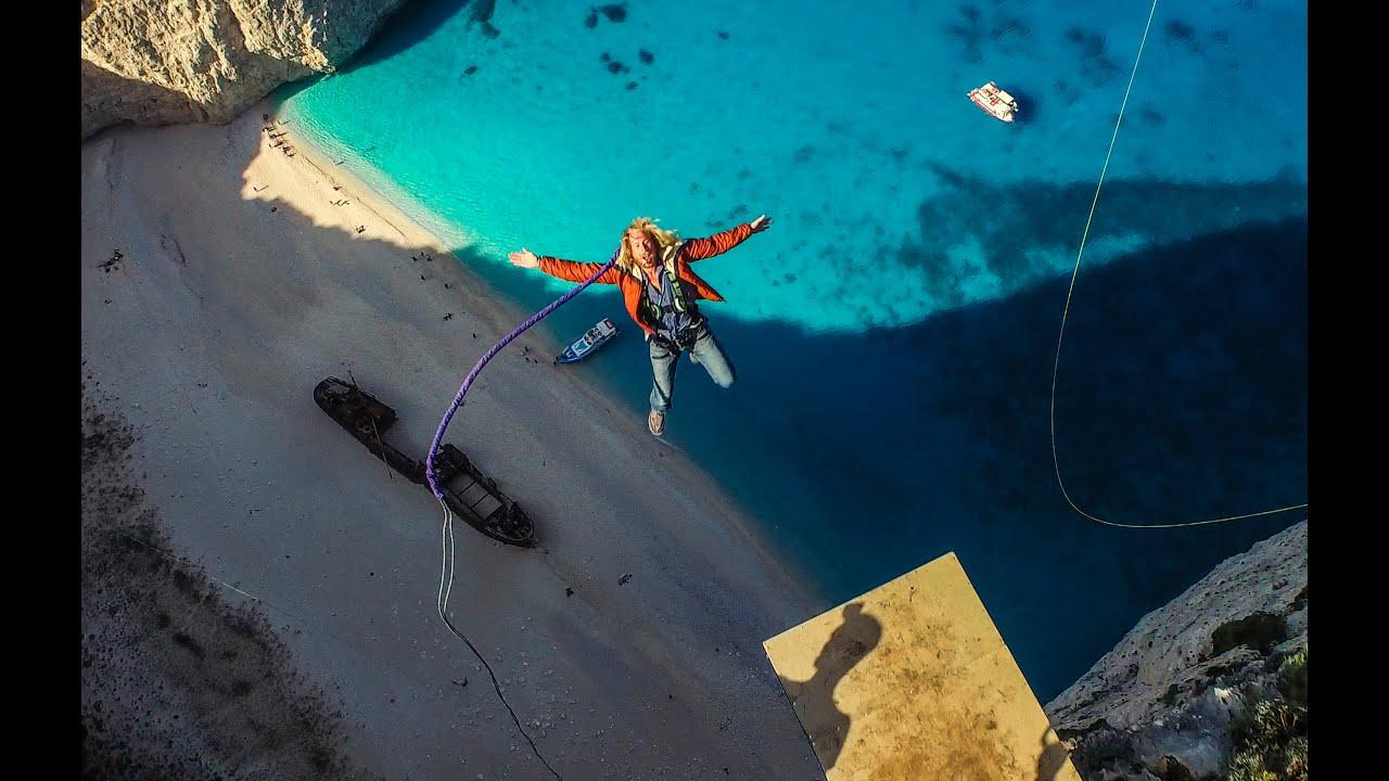 600 foot Insane Rope Swing!!! - in Greece!