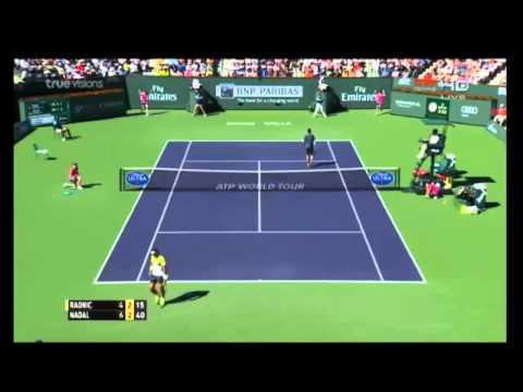 NADAL VS RAONIC 2015 (QUARTERFINALS INDIAN WELLS) HIGHLIGHTS FULL HD