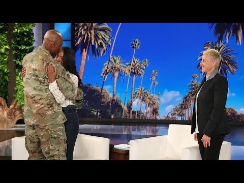 Ellen Stages a Sweet Mother's Day Military Reunion