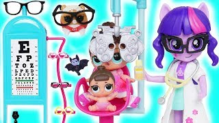 LOL Surprise Doll Eye Exam for New Baby Barbie