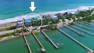 """""""Twice as Nice"""", two ocean-to-river vacation rentals, from Beach Houses in Paradise"""