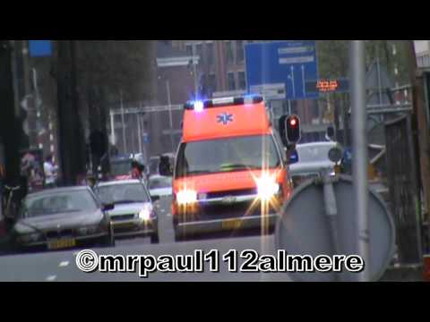 AMBULANCE 13-114 A1 AMSTERDAM POST GOLF VONDELPARK RIT:323 (koninginnedag)d