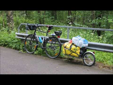 Bicycle touring Finland in lake Saimaa area 2016