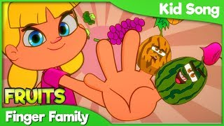 FRUIT FINGER FAMILY Baby Song | Best Family Finger Nursery Rhymes for Babies