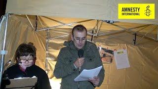 شب شعر حقوق بشر در بلژیک و شاعر ایرانی  Journée internationale des droits de l'homme