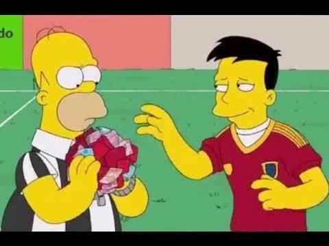 Homero Simpson convirtió en árbitro del Mundial Brasil 2014